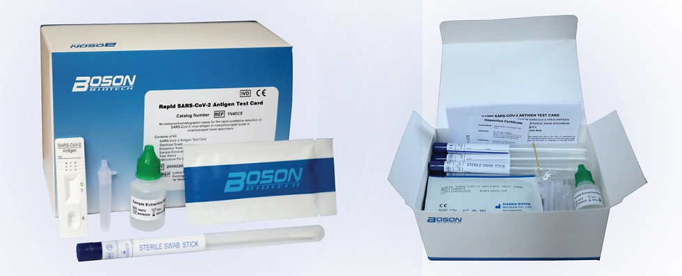 Rapid SARS-Cov-2 Antigen Tests (Lateral Flow)