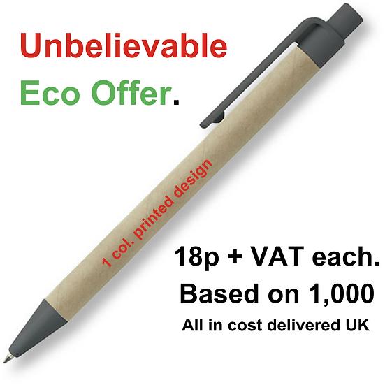 Eco-friendly promotional push button pen