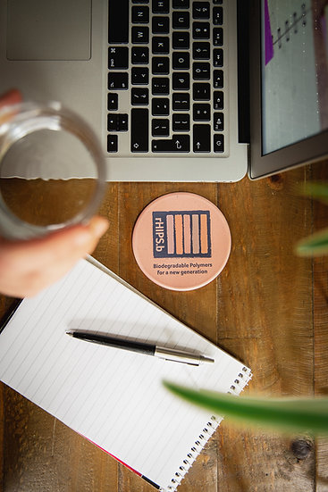 Fully recycled and biodegradable drink coaster