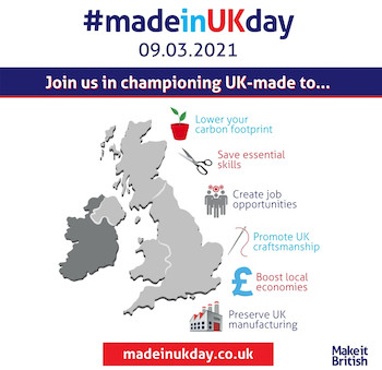 We're celebrating the first Made in UK Day on 9 March 2021
