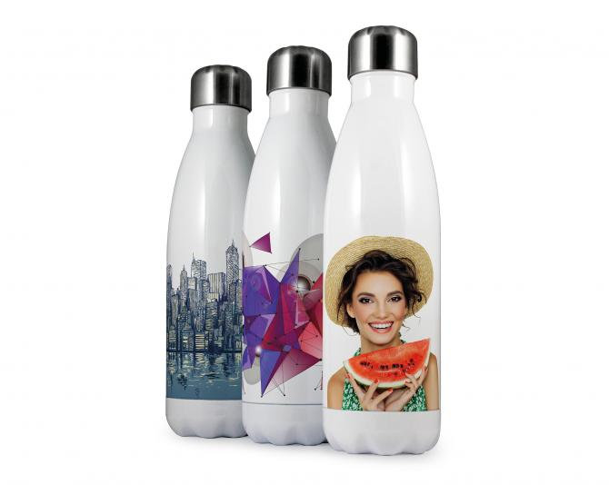Eevo Therm Drink Bottles - branded with full colour photo, etching or print