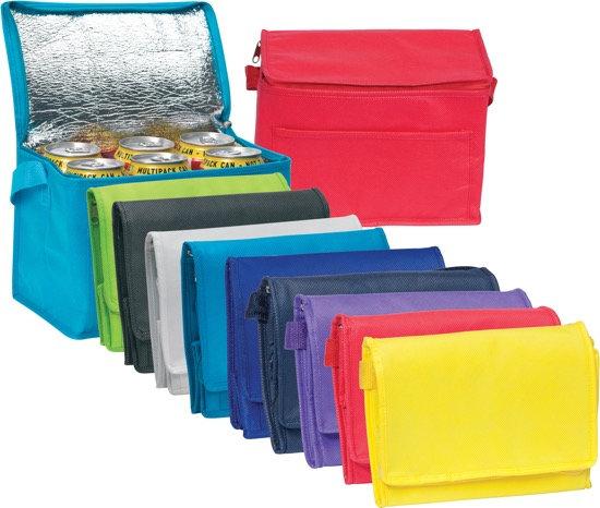 6 Branded Promotional Can Cooler Bag