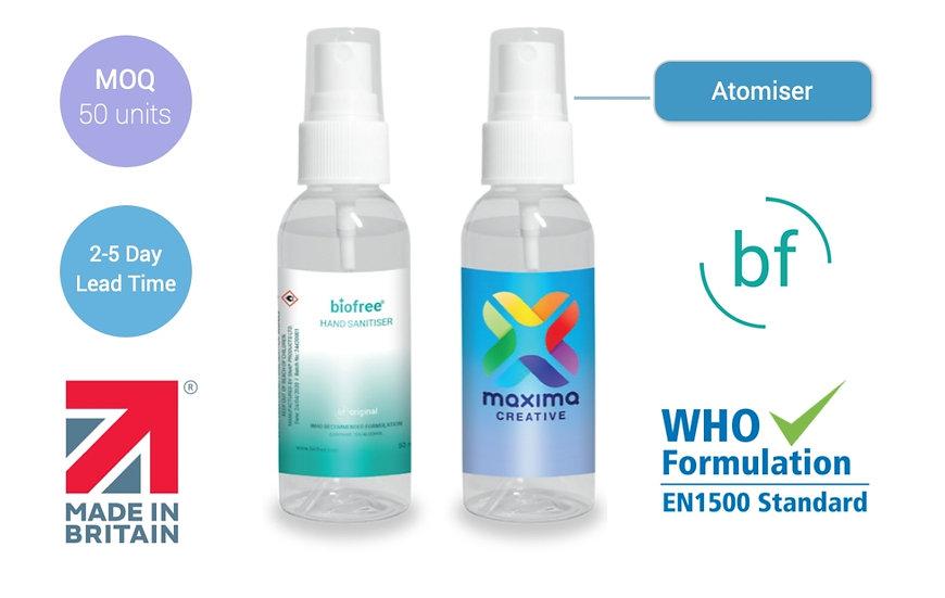Atomiser sanitiser