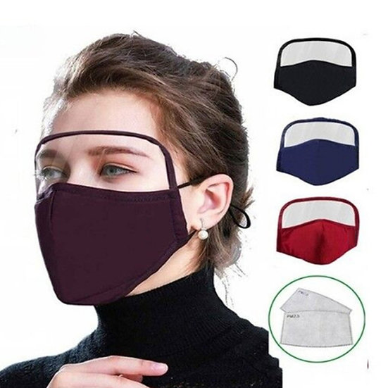 Mask with eye protection