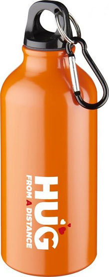 400 ml water bottle with carabiner attachment