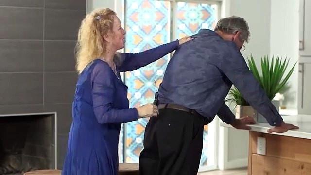 Donna Eden giving energy medicine spinal flush