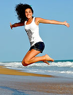 Girl jumpin for joy, Energy Booster healing sesso