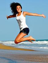 Girl jumpin for joy, Energy Booster healing sesso