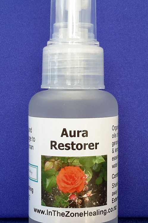 Aura Restorer aromatherapy spray blend cleanses and strengthens the human aura
