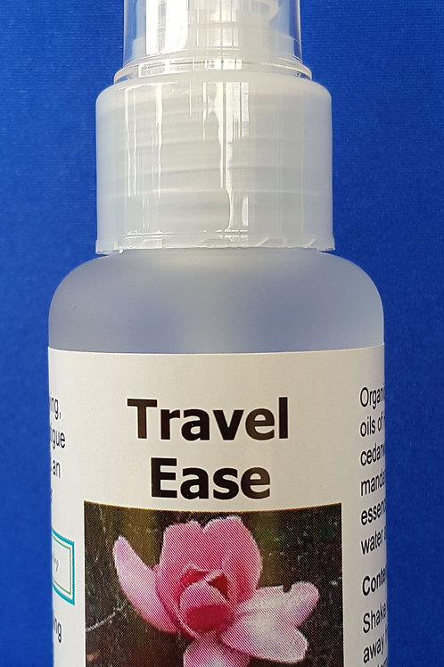 Travel Ease aromatherapy spray blend helps to minimise the negative effects of flying, jet lag & travel fatigue