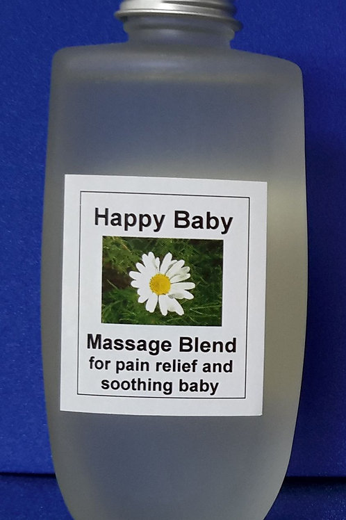 Happy Baby aromatherapy massage blend calms & soothes babies and toddlers