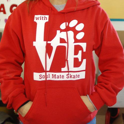 "Adult ""With Love"" Hooded Sweatshirt"