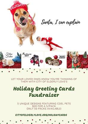 5/pk Holiday Greeting Cards