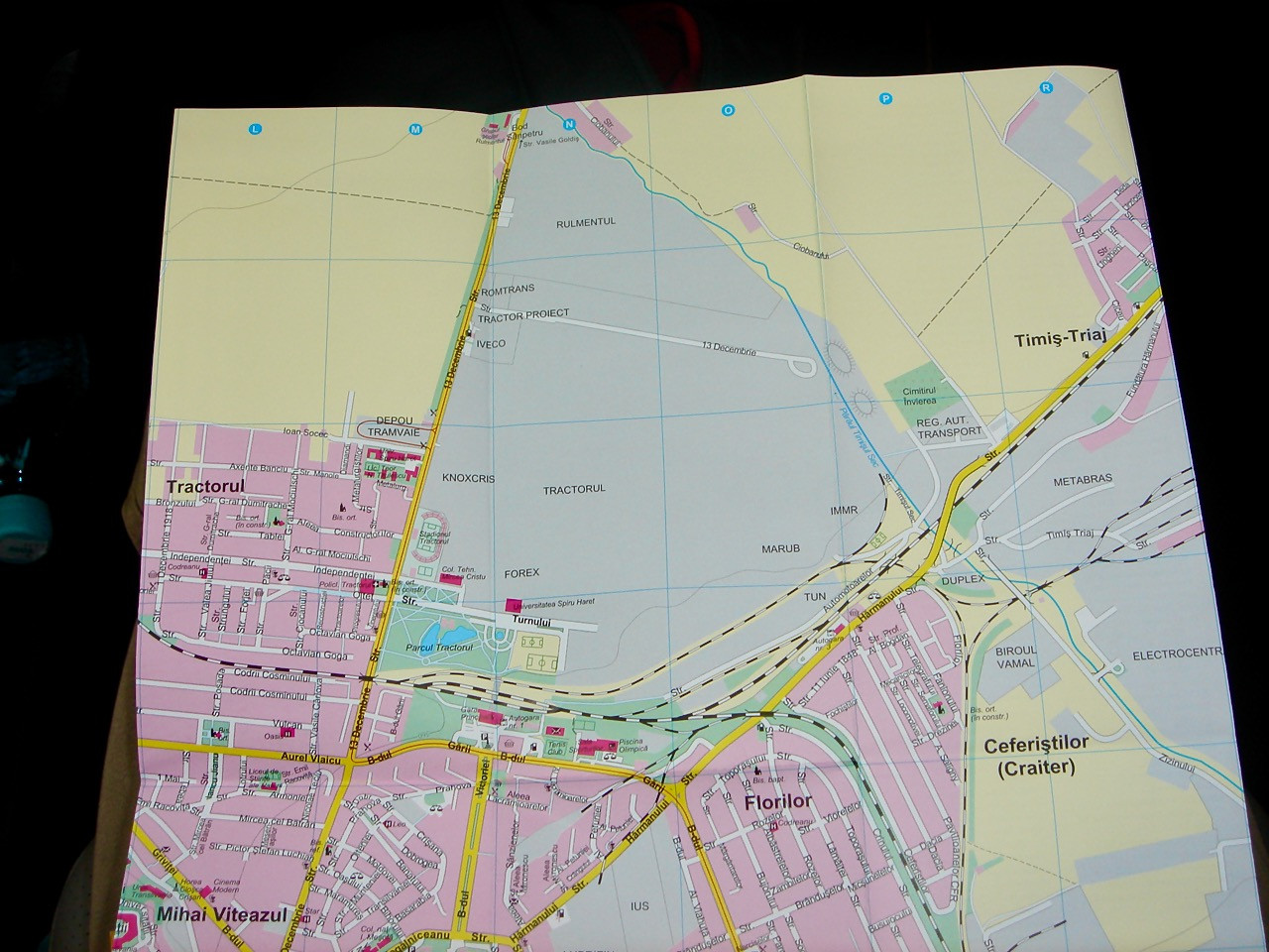City Map with Blighted Area