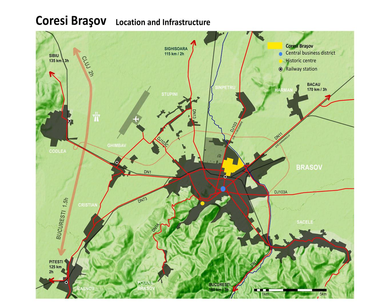 Site Location in Brasov