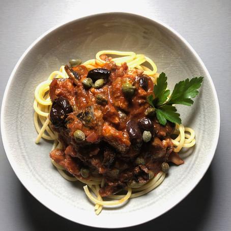 Recipe: Puttanesca Spaghetti