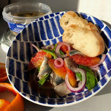 Recipe: Marinated Sardine Salad with Orange, Mint & Red Onion