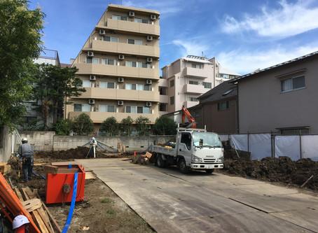 玉川台のアパートメント/着工