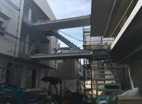 玉川台のアパートメント 竣工までもう少し