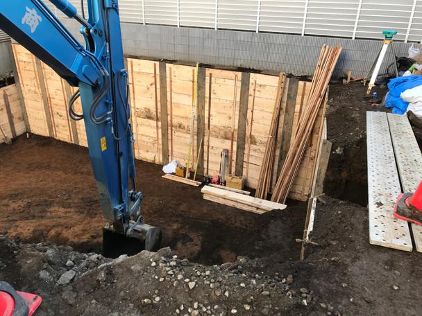 南青山3丁目プロジェクト 土工事と支持地盤確認