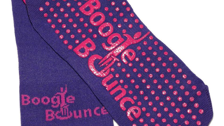 Boogie Bounce PURPLE Official Grip Socks