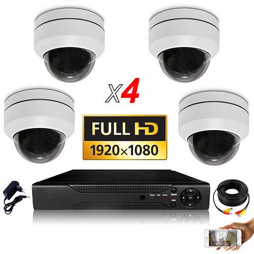 Kit  4 Caméras  FHD  2MP Sans Installation