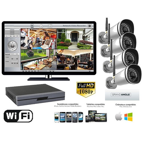 Kit 4 Caméras FHD 1080P