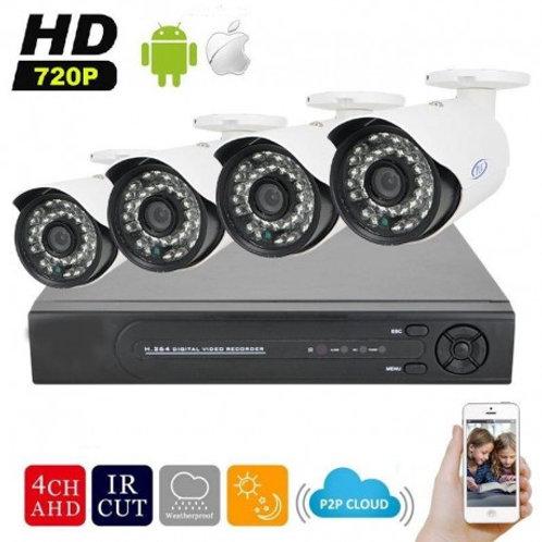 Copie de Kit 4 Caméras FHD 1080P avec Installation