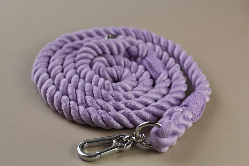 Lilac Icing Rope Lead