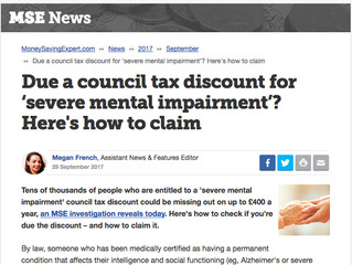 Due a council tax discount for 'severe mental impairment'?