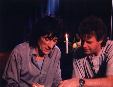 Ronnie Wood von den Stones und Günter Schneidewind