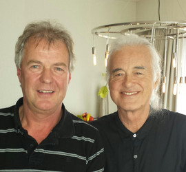 Günter mit Jimmy Page