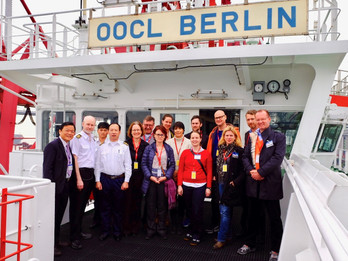 Visit Container Ship OOCL Berlin, German Consulate General