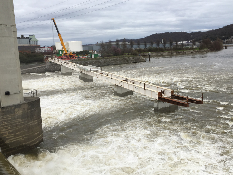 Puente de la presa de Monsin (Lieja)