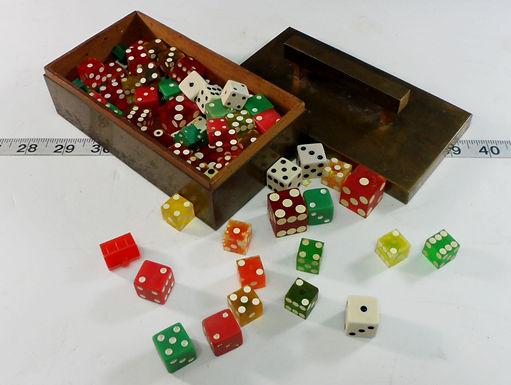 Brass Box With Dice