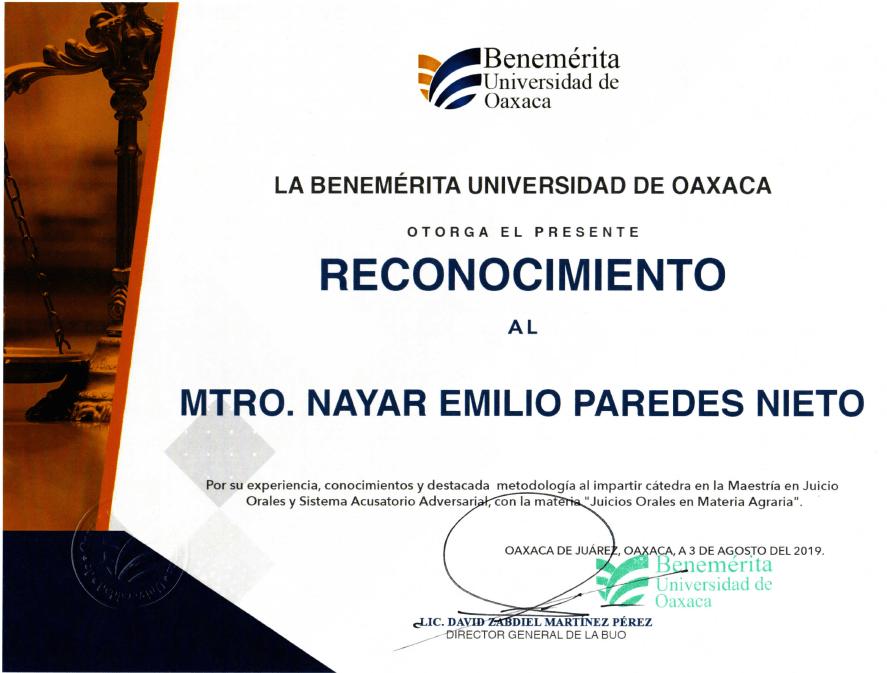 Nayar Paredes Maestria Derecho Agrario O