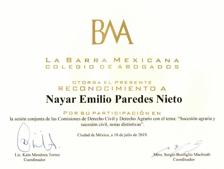 Nayar Paredes Abogado Agrario Barra Mexi