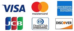 ご利用できるクレジットカード会社一覧