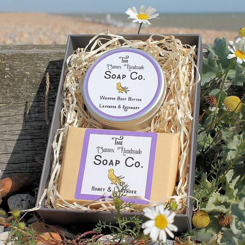 Lavender Body Butter & Soap Gift Set