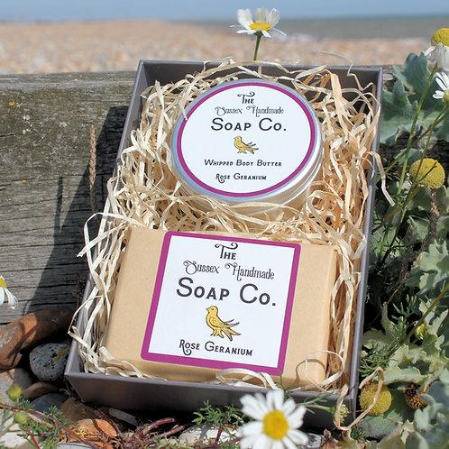 Rose Geranium Body Butter & Soap Gift Set
