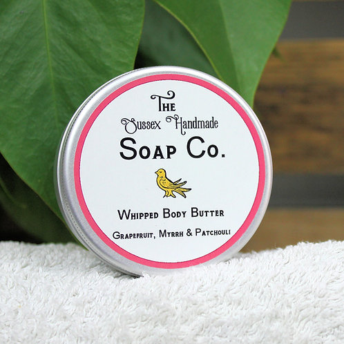 Whipped Body Butter Grapefruit, Myrrh & Patchouli