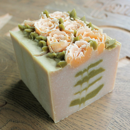Limited Edition Rhubarb & Strawberry Roses Soap