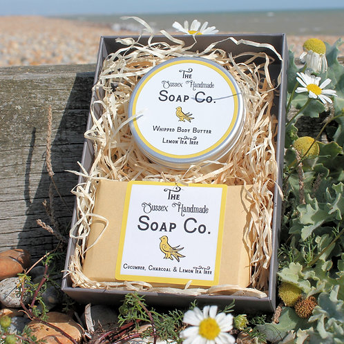 Lemon Tea Tree Body Butter & Soap Gift Set