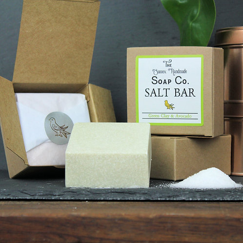 Green Clay & Avocado Salt Bar