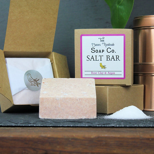 Rose Clay & Argan Salt Bar