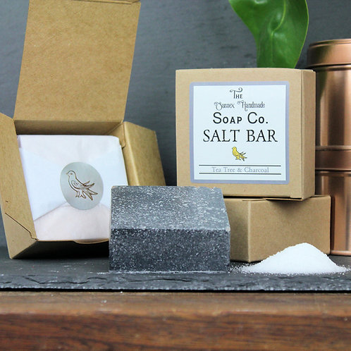 Tea Tree & Charcoal Salt Bar