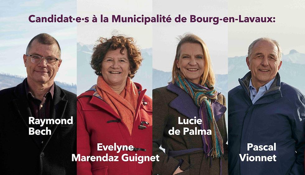 Une liste paritaire pour les élections à la municipalité de Bourg-en-Lavaux