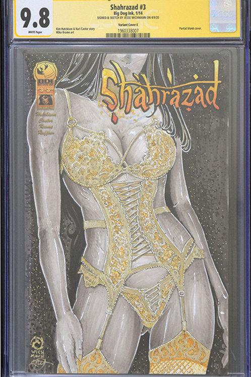 CGC 9.8 Shahazad #3 - Original Sketch Cover