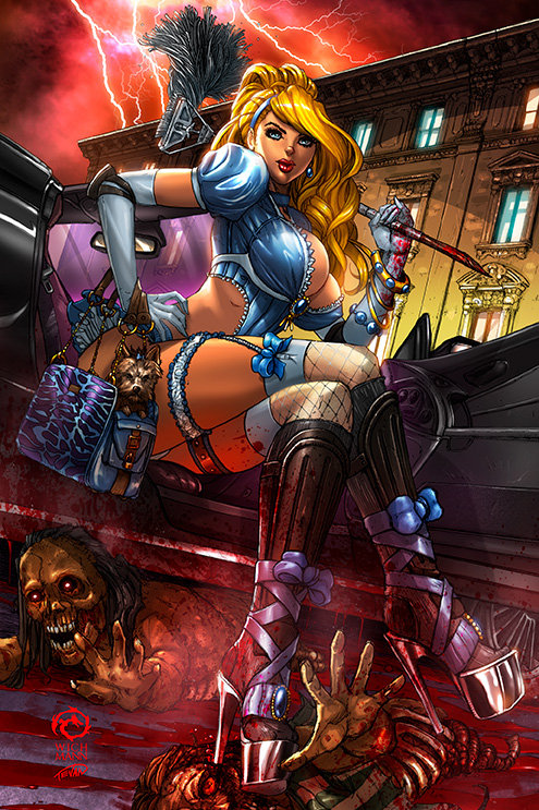 Princesses VS Zombies Cindy Metal Print