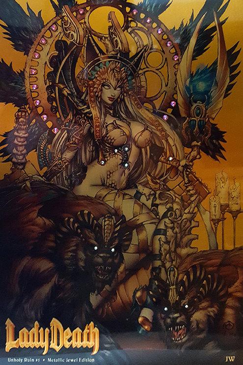 Lady Death Unholy Ruin #1 - Death Pharaoh Metal Artist Proof Edition Set